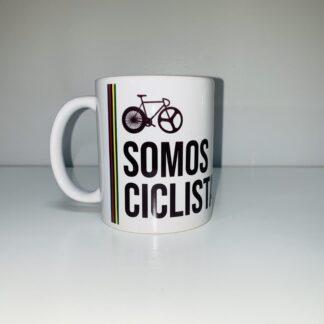 taza de desayuno ciclista